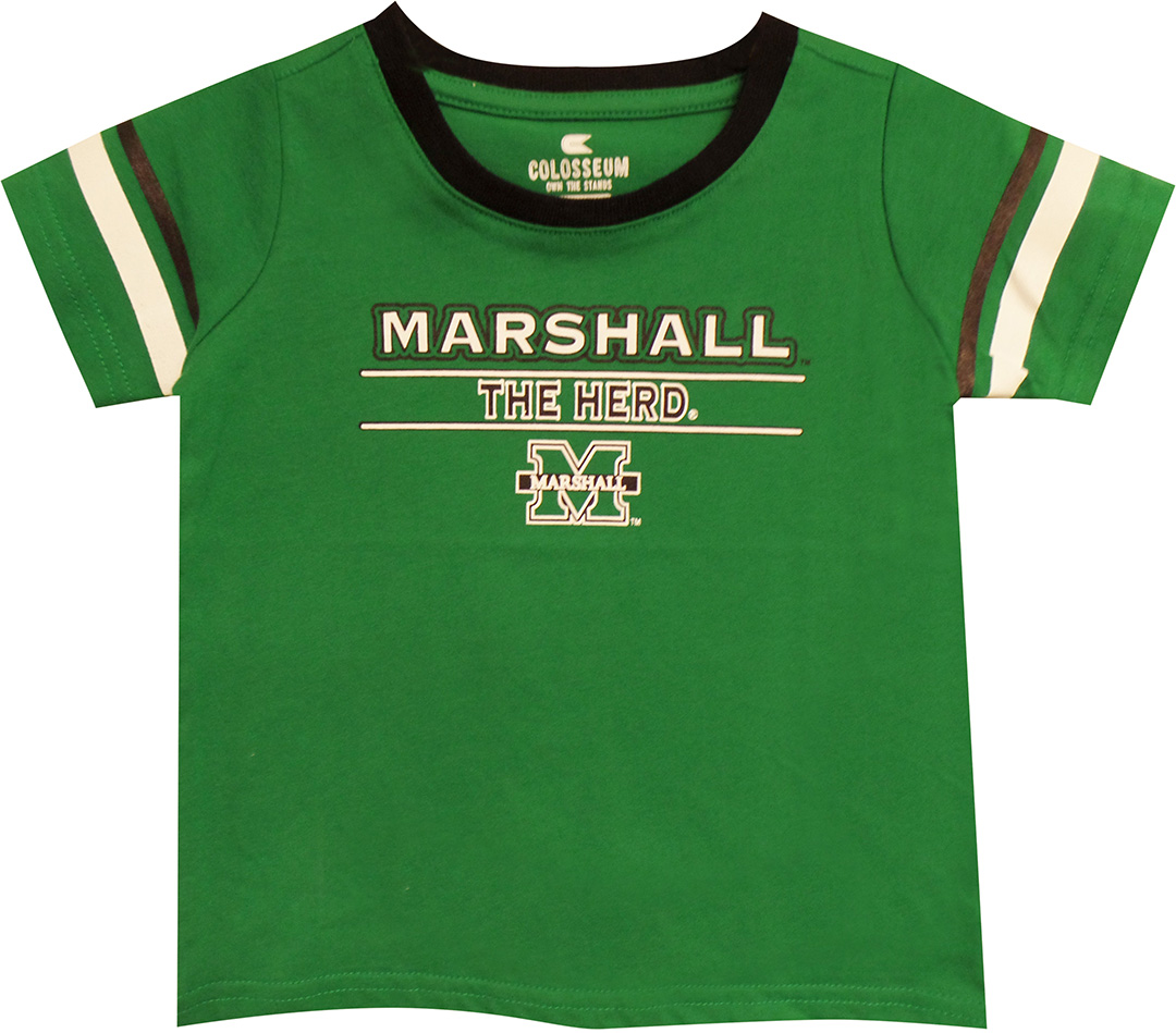 "Colosseum <br> MU The Herd <br> Infant-Toddler Sizes <br><s> Reg. $14.00</s> <br> <font color=""red"">SALE $9.99</font>"