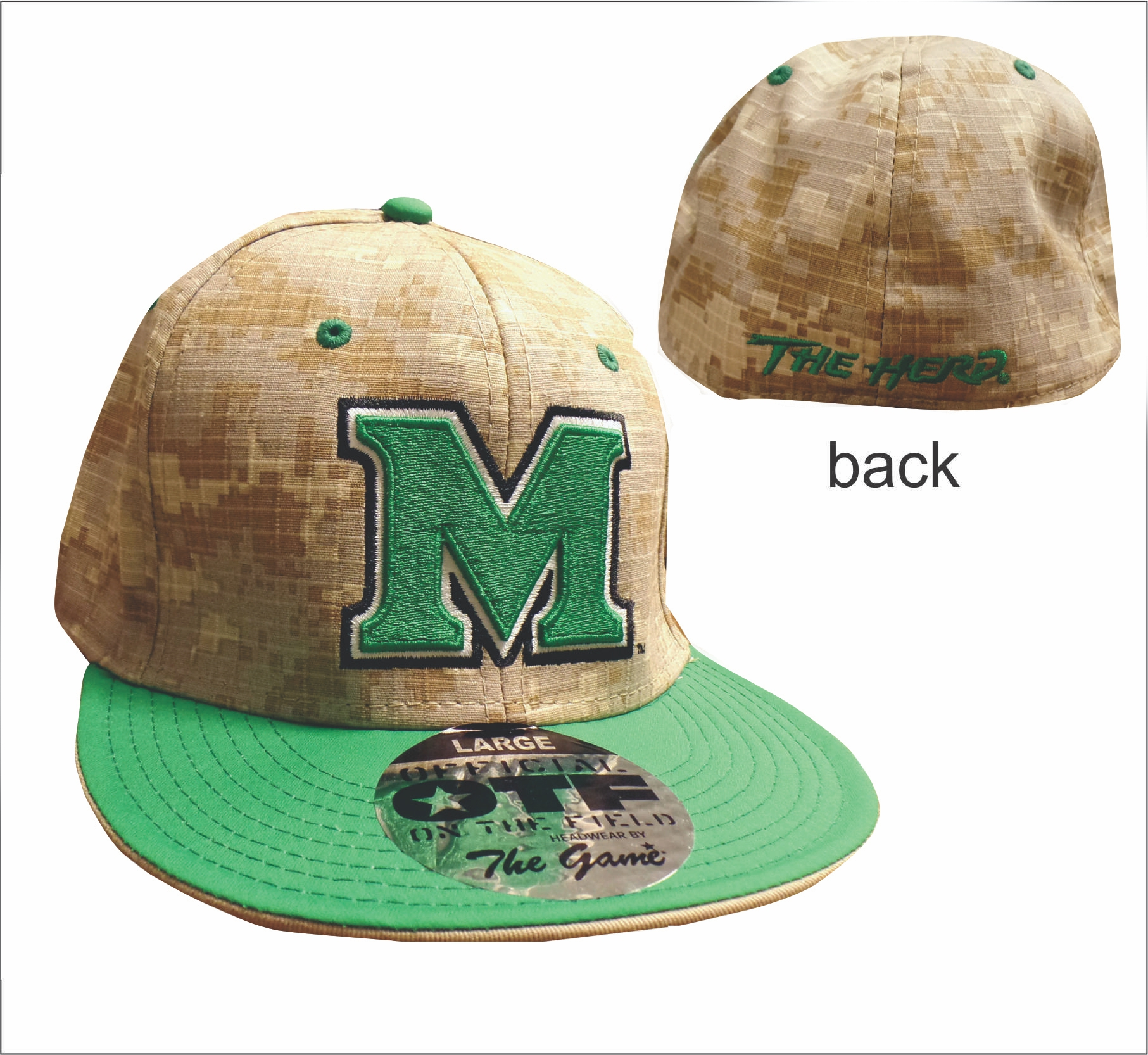 The Game <br> MU Game BBall Cap Digital <br> 8900 <br> M-XL <br> $24.99