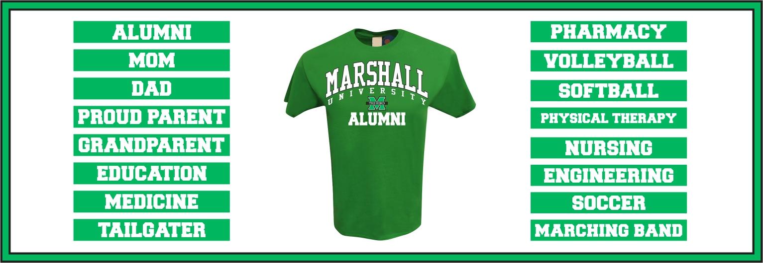 MARSHALL SHIRT CHOICES