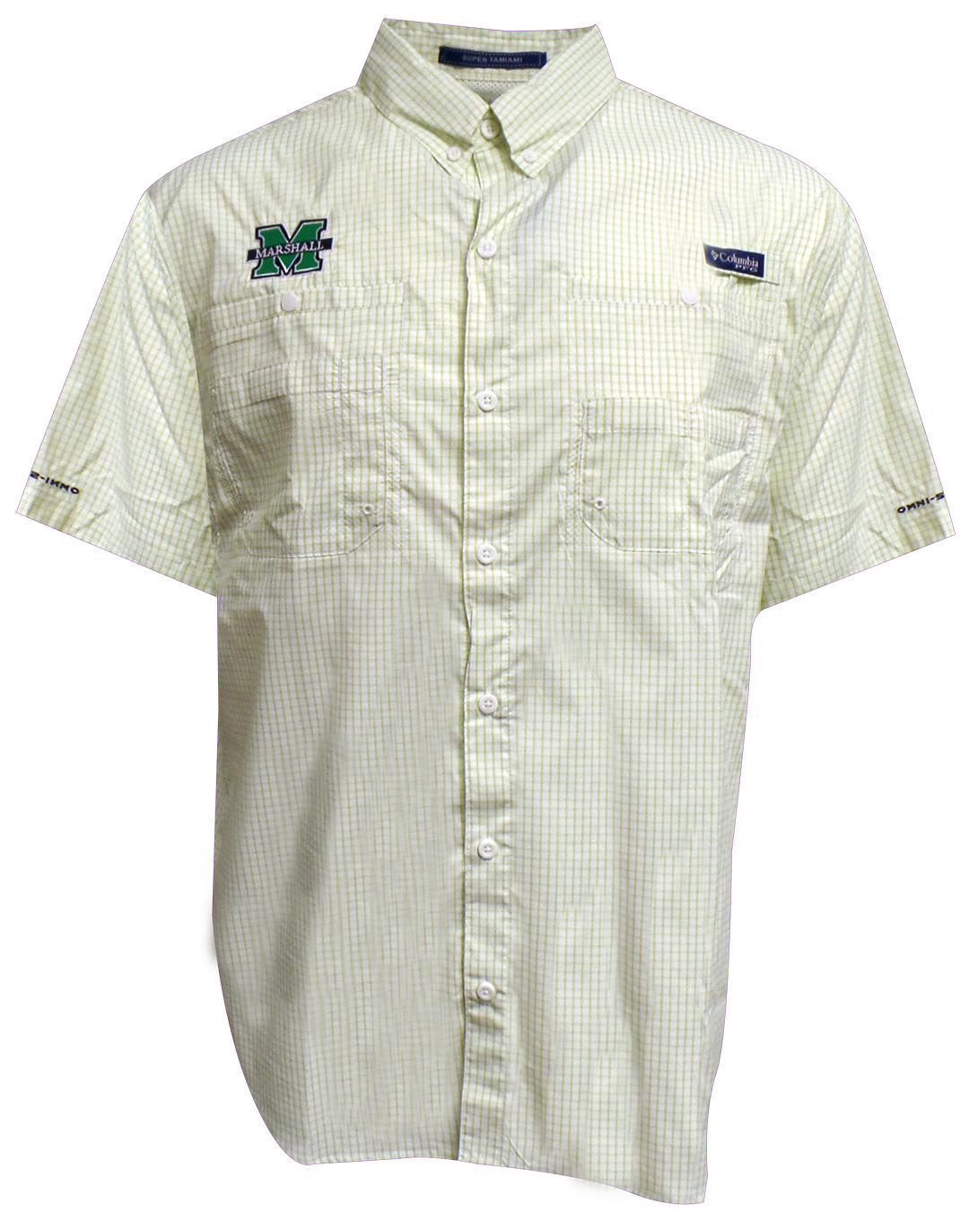 26690 <br>Columbia <br> MU TAMIAMI S/S <BR> BUTTON UP NAPA GREEN <br> $66.99