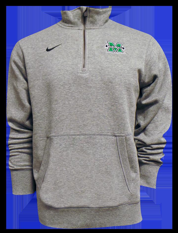 Nike Stadium Club  <br>1/4 Zip Fleece Grey <br> $72.99